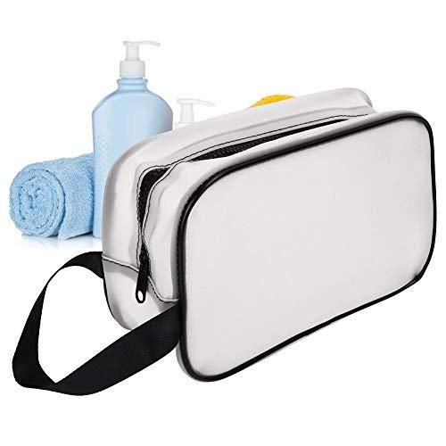 Trousse de Toilette, Poignée Portable Sac Cosmétique Femmes Maquillage Sacs Étanche Organisateur Trousse De Toilette pour Voyage D'affaires (26x10x15cm)
