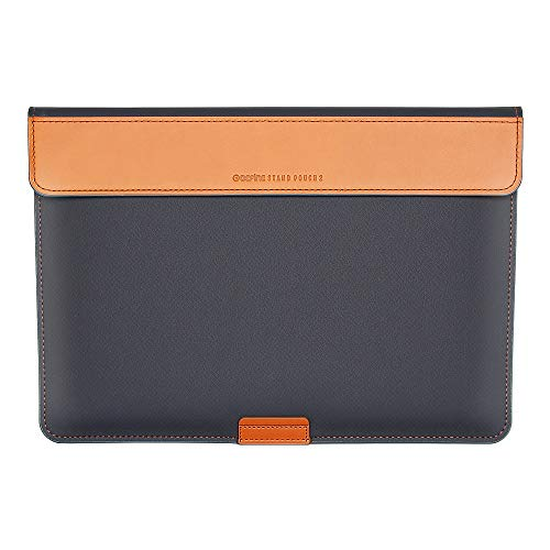 BEFINE 13 inch Premium Leather Tasca Stand Sleeve with PU Inner Suede Durable Case Designed by a Craftsmen Compatible for MacBook Pro M1 & MacBook Air, Apple Laptop, Apple Tablet (Navy)