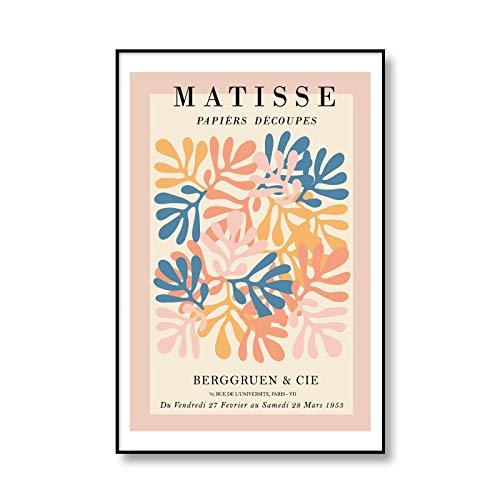 Póster de ilustración de hoja abstracta de Henri Matisse, habitación moderna, muebles para el hogar, lienzo sin marco, pintura D 30x40cm