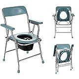 TANGIST Silla de inicio ajustable, comillas portátiles de la cama de la cama ajustable de la cabina del asiento del asiento del asiento del asiento, cómoda silla de transporte de aluminio del apoyabra