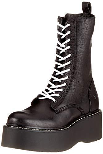 Windsor Smith Damen Leopold Combat Boots, Schwarz (Black 001), 41 EU