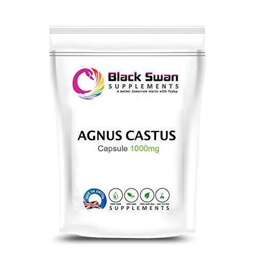 Swan Agnus Castus Supplement | Reduce Irritability | Menstrual Cramp | Mood Swings | Pre-Menstrual syndromes and Menopause | 1000mg High Strength Veg Capsules (120 caps)