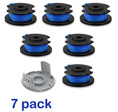 LEIMO 0.065 String Trimmer Spool Line for Ryobi One+ AC14RL3A , 0.065' Autofeed Replacement Spools for Ryobi 18V, 24V, and 40V Cordless Trimmers (7 Pack)