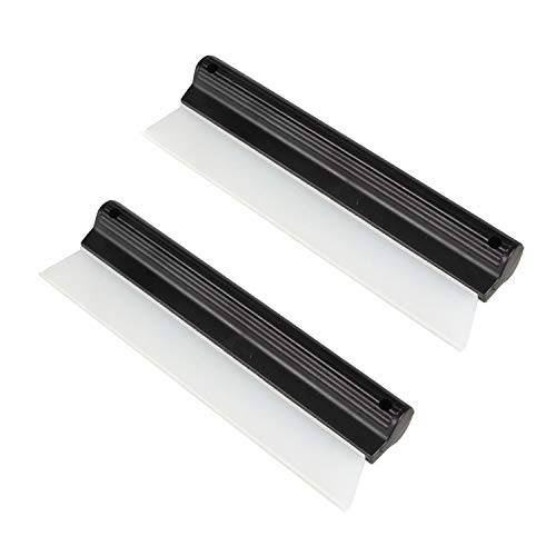 2 Pack 10 Inches Cleaning Water Squeegee Blades Soft Silicone Squeegee for Shower, Kitchen, Window and Car Glass