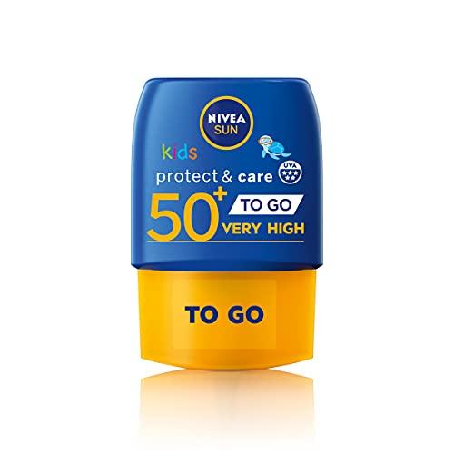 NIVEA SUN Kids Protect & Care Pocket Size Sun Lotion (50ml), SPF 50 Kids...