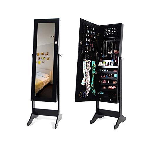 Schmuck Schrank Geeignet for Schrankwand Schmuckschränke Abschließbare Wandtür Schmuckorganisatoren und Spiegel können an die Wand gehängt oder an die Tür gehängt werden Wandmontage Schmuckschränkchen