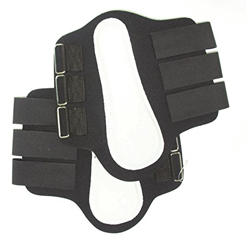 Intrepid International Splint Boots with White Leather Patches, Small, Black -  245852