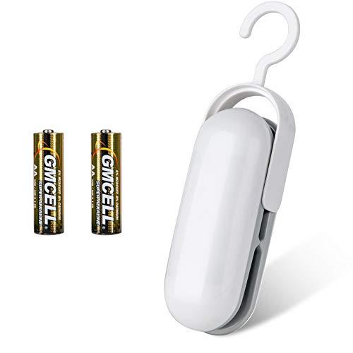 Folienschweißgerät Mit Batterie,JTENG Mini Bag Sealer Tüten Schneiden und Verschließen, Hand-Folienschweißgerät für Lebensmittelverpackungen
