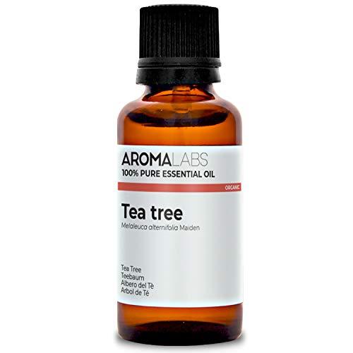Aroma Labs Arbol De Té Bio, Aceite Esencial 100% Natural y Bio, Calidad Verificada por Cromatografía, 30 ml