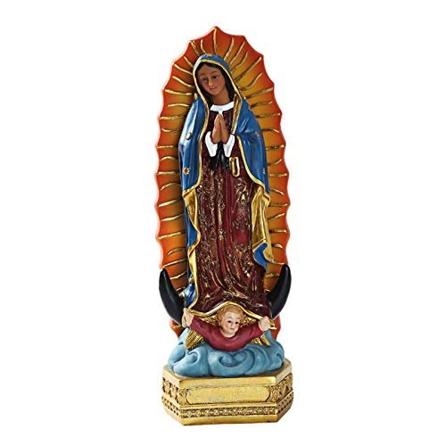 zrshygs Nuestra Señora de Guadalupe México Virgen María Figuritas Accesorios para decoración de Interiores