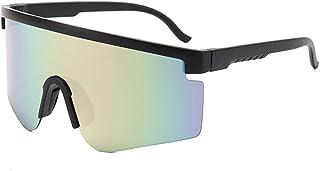 QWKLNRA - Gafas De Sol para Hombre Lente Gris Marco Negro Uv400 Gafas De Sol Deportivas Polarizadas para Hombre Gafas De Sol Deportivas Ciclismo Gafas De Sol Hombres Mujeres Deportes Al Aire Libre Gaf