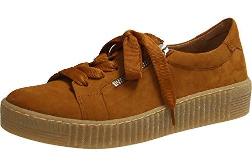 Gabor Damen Low-Top Sneaker 33.334, Frauen Sneaker,Halbschuh,Schnürschuh,Strassenschuh,Business,Freizeit,Curry (Natur),37.5 EU / 4.5 UK