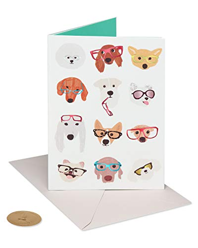 Papyrus Blank Friendship Card (Dog with Glasses)