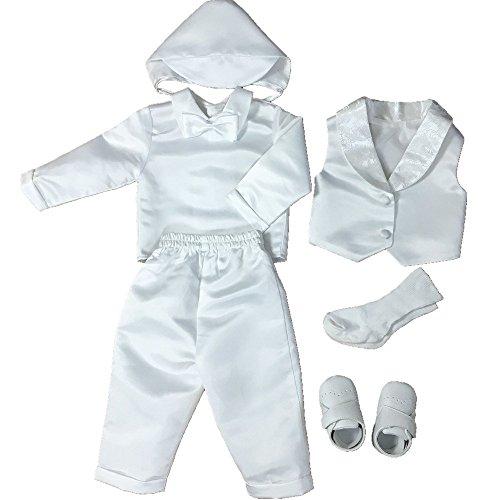 HELLO BABY - Costume de baptême - Bébé (garçon) 0 à 24 mois blanc blanc S(0-6 months)