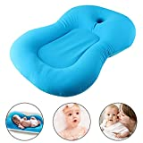 Baby-Badekissen Baby Badematte, Baby-Badewanne Kissen Bett Schwimmend Neugeborenen Badewanne Unterstützung Kissen Mat (Blau)