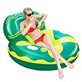 X XBEN Inflatable Pool Floats for Adults, Kids, Floating Chairs and Loungers for Swimming Lake Beach, Water Sofa with Deep Cup Holders, Summer Party Toys, Vacation Fun and Rest, (Patent Product)
