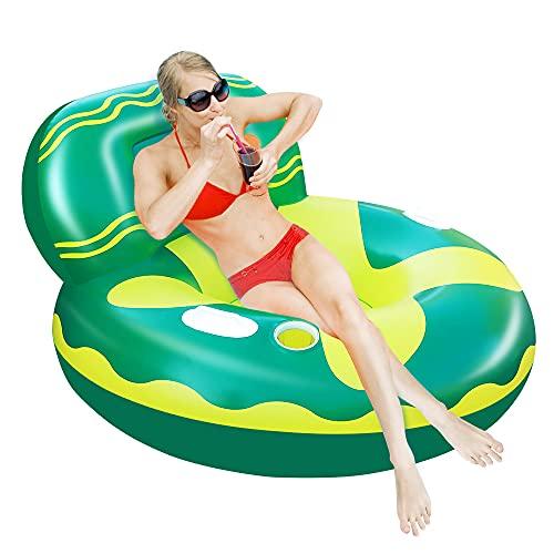 X XBEN Aufblasbare Pool Floats für Erwachsene, Kinder, Schwimmende Stühle und Liegen zum Schwimmen am Strand, Wassersofa mit tiefen Getränkehaltern, Sommerparty Spielzeug