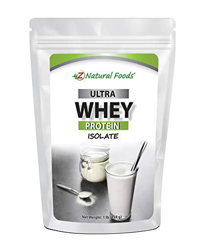 Whey Protein Isolate - Unflavored - All Natural Protein Powder Made in The USA - Mix in A Smoothie, Shake, Drink, Or Recipe - Hormone Free, Unsweetened, Non GMO, Kosher & Gluten Free - 1 lb