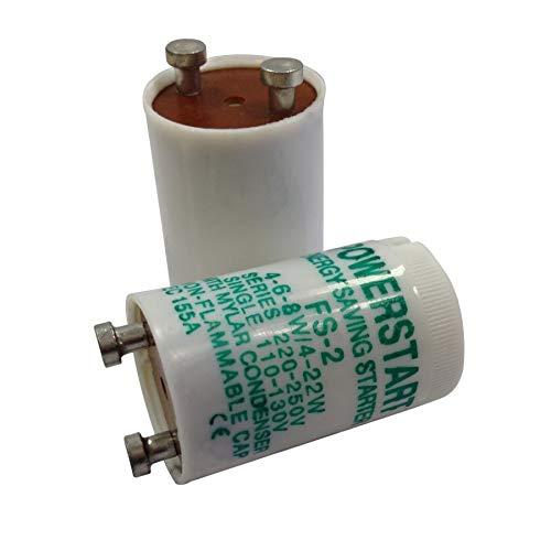 Powerstart - Iniciador para lámpara con Condensador (FS2 4-22w, 5 Unidades).
