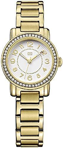 Tommy Hilfiger 1781477 - Reloj, con Correa de Acero Inoxidable, de Color Blanco