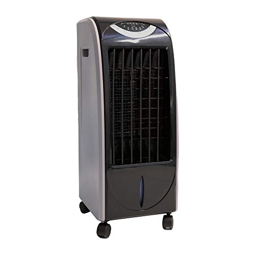 ZINNZ SELECTED Mobile Klimaanlage, Luftkühler Klimaanlage, 5 in 1 Luftbefeuchtung Ventilator, Air Cooler, 6L Mobile Klimagerät, Heizfunktion, 3 Geschwindigkeitsstufen, Aircooler Klima (Schwarz/Grau)