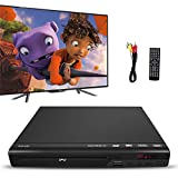 Reproductor de DVD para TV, Reproductor de DVD Home DVD Player con Cable AV para TV Multi Region DVD Player con Control Remoto