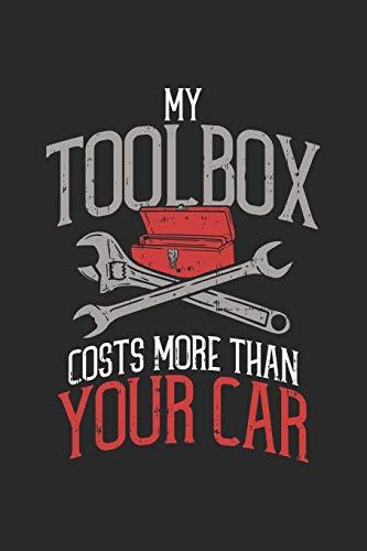 My Toolbox Costs More Than Your Car: Mechaniker Notizbuch / Tagebuch / Heft mit Blanko Seiten. Notizheft mit Weißen Blanken Seiten, Malbuch, Journal, Sketchbuch, Planer für Termine oder To-Do-Liste.