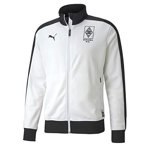 PUMA Herren, BMG T7 Track Jacket Trainingsjacke, White-Black, 3XL