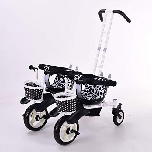 Kombikinderwagen Doppel Dreirad Kinderwagen Doppel Baby Fahrrad Fünf Modi Kostenlos mit 3 Punkten Sicherheitsschutz Kinderwagen Kinderwagen & Buggys (Color : B)