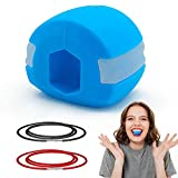 Jaw Exerciser And Neck Toning Exerciser Double Chin Exercise Device Fitness Ball Neck Exerciser Stretching Device Define Your Jawline Healthier, Slim and Tone Your Face-Helps Reduce Stress [Blue]