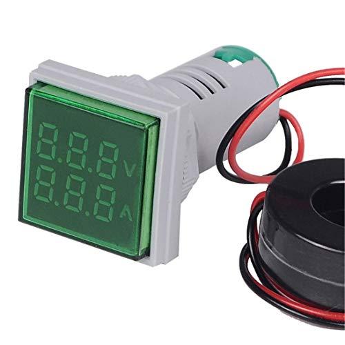 XINFULUK LED Digital Voltmeter Amperemeter Hertz Meter Signallichter Spannung Strom Frequenz Combo Meter Anzeigetester - Grün