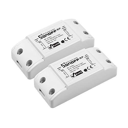 Sonoff Basic R2 Wifi-Schalter, intelligenter Schalter kompatibel mit Alexa/Google Home/Nest/IFTTT, Fernsteuerung, Sprachsteuerung, Zeitfunktion, kein Hub erforderlich