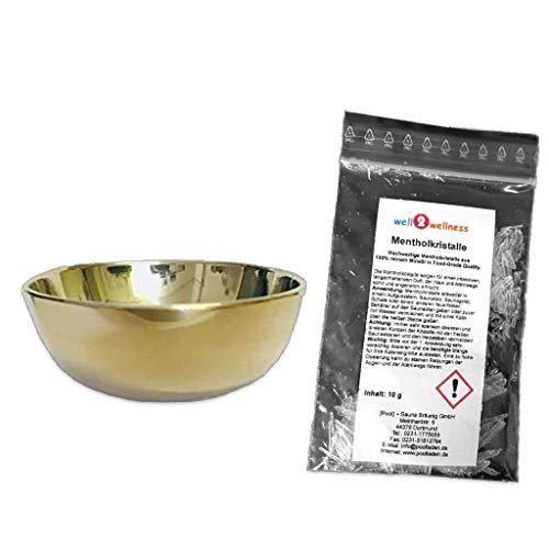 Preisvergleich Produktbild SudoreWell® Verdampferschale groß Ø 6, 7cm / 2, 5cm hoch Plus 10g Mentholkristalle