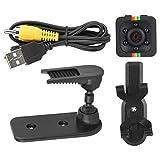 VGEBY Videocámara con videocámara, videocámara con Sensor de visión Nocturna 1080P HD Mini cámara con videocámara con videocámara DV Grabadora de Movimiento(Negro)