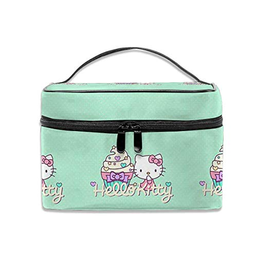 Hello Kitty Multifunktions-Reise-Make-up-Koffer, professionelle Kosmetik-Make-up-Tasche Organizer Make-up-Boxen, Toilettenschmuck für Frauen