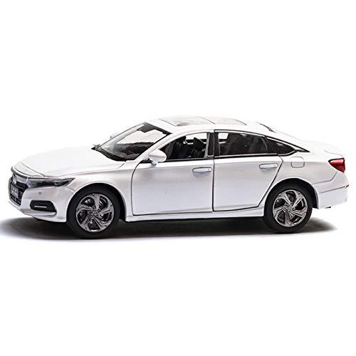 DXZJ 1:32 para Honda Accord modelo de coche, simulación de aleación, modelo de coche, sonido y luz, para decoración de coche, asiento de perfume para niños (color blanco, tamaño: B)