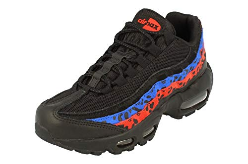 Nike Mujeres Air MAX 95 PRM Running Trainers CD0180 Sneakers Zapatos (UK 3 US 5.5 EU 36, Black Habanero Red 001)