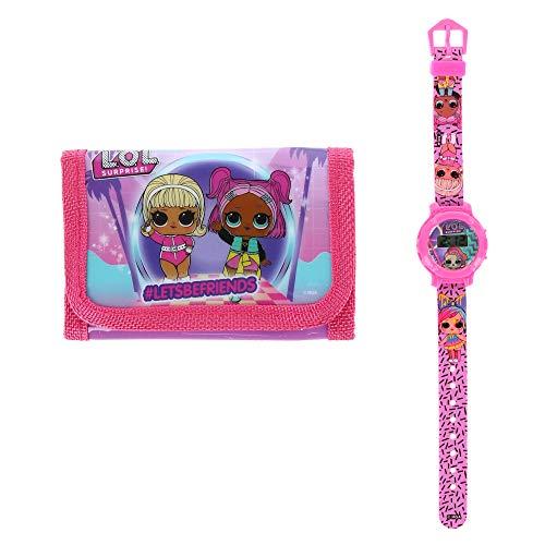 Textiel Trade Kinder LOL Surprise Geldbörse und Uhr Set, Pink