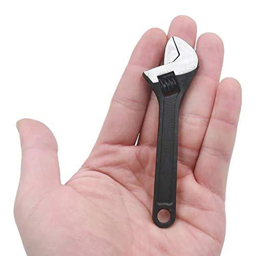 Sanmubo Trading 2.5/4 Pulgadas Mini Llave Inglesa Llave de Acero Ajustable Herramienta de Llave de Tuerca para ensamblar Muebles Equipo pequeño Auto