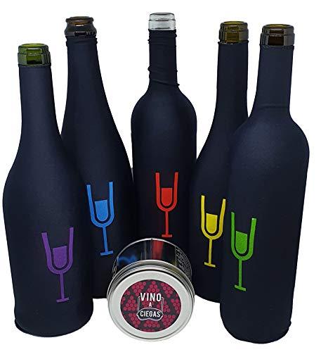 Set de 5 Fundas para cata a ciegas. Bote metalico. Cata de vinos - Accesorio para Vino