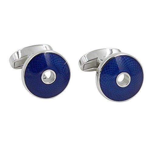 Manschettenknöpfe mit blau Saphir Stein | 5 Jahre Garantie | Mit Geschenkschachtel | Qualität Manschettenknöpfe | Geschenke für Männer | Geschenke für Zubehör | Manschettenknöpfe in Marineblau