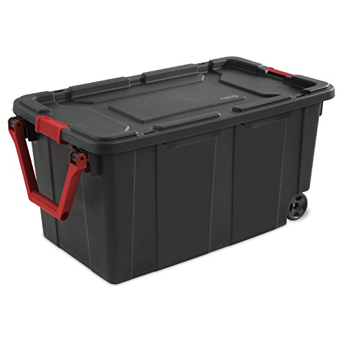 STERILITE, 40 Gal./151 L Wheeled Industrial Tote, Case of 2