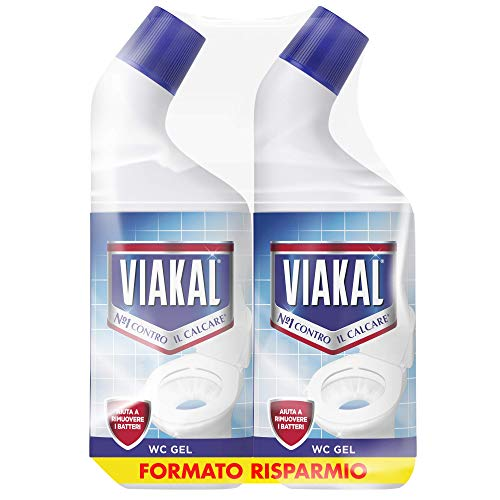Viakal Detersivo Anticalcare WC Gel, Maxi Formato 2 Pezzi da 750 ml