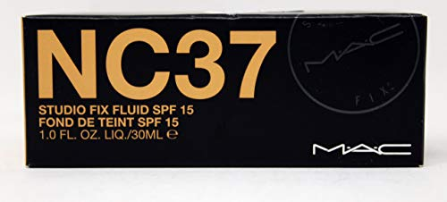 Mac Studio Fix Fluid Make-up-Grundierung, Sonnenschutzfaktor15, NC37, 1Stück