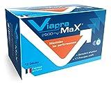 VIAPRAMAX Stimulant extrêmement puissant avec effet immédiat et durable, Endurance, Résistance, Mental - Booster Homme - complexe d'actifs efficaces agréés par les autorités françaises, 12 gélules