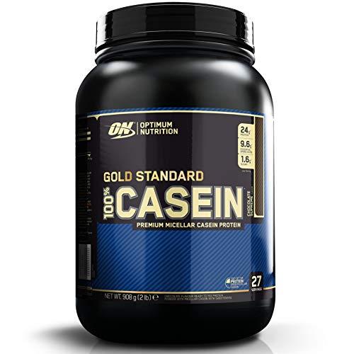 Optimum Nutrition ON 100% Gold Standard Casein Protein, Eiweißpulver Reich an Essentiellen Aminosäuren Komplex, BCAA, Chocolate Supreme, 27 Portionen, 0,9 kg