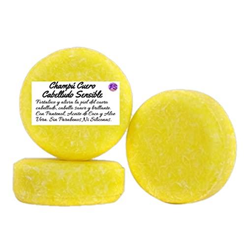 Champú Sólido Natural para Cuero Cabelludo Sensible. Con Pantenol. Contiene Aloe Vera, Aceite y Extracto de Coco - 55 g