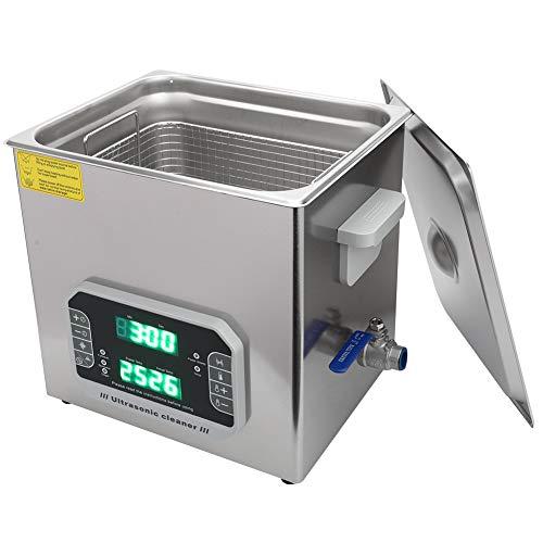Limpiador ultrasónico, limpiador ultrasónico profesional de un solo botón 1-99min Rango de ajuste de tiempo de trabajo con acero inoxidable de hasta 80 ℃ por un período de tiempo.