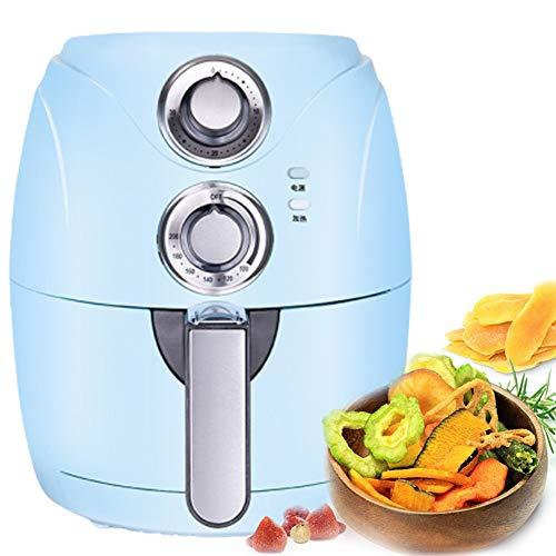 TTFGG Zuhause Friteuse Heissluft, Fritteuse Intelligente, Vollautomatische Kartoffelchips Maschine, 2.5L, 1200W Healthy Air Fryer,Blau