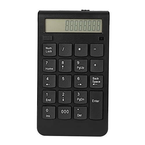 Serounder 19 Teclas Teclado numérico inalámbrico Bluetooth numérico portátil Teclado numérico Portátil Carga por USB para iPad/Mac/Laptop/PC, Compatible con Microsoft/Android/iMac System